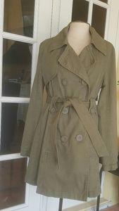 SECRET ELEMENTS Green Raincoat Jacket